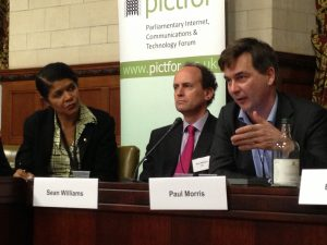 L to R: Chi Onwurah MP, Sean Williams, Paul Morris