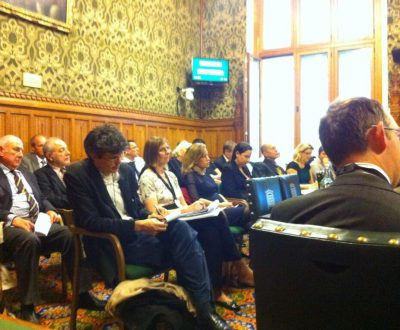 Attendees at the Computers and Rehabilitation Launch event, House of Commons Committee Room 5, 22nd October 2013.