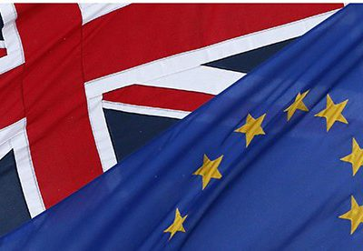 The EU and the Union flags - Rights reserved Guardian image